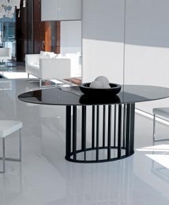 tavolo ovale arredamento casa on line moderno di lusso 2015 design inspiration web made in italy vetro temperato acciaio trasparente prezzi cristallo