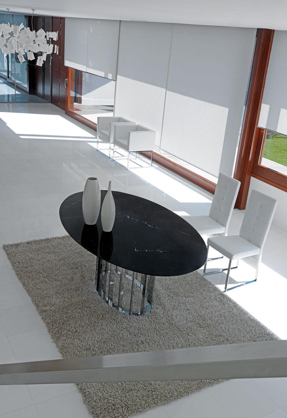 Embassy table ovale en marbre et métal   idd