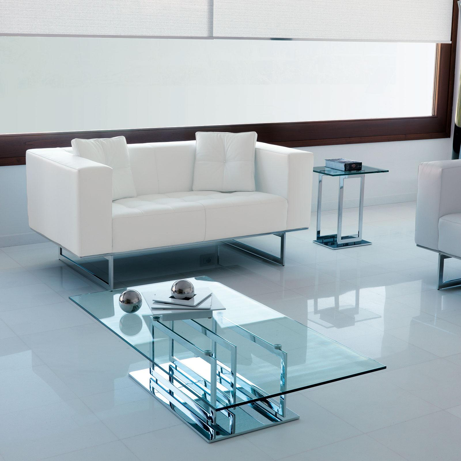 Excelsior Glass and Metal Luxury Coffee Table