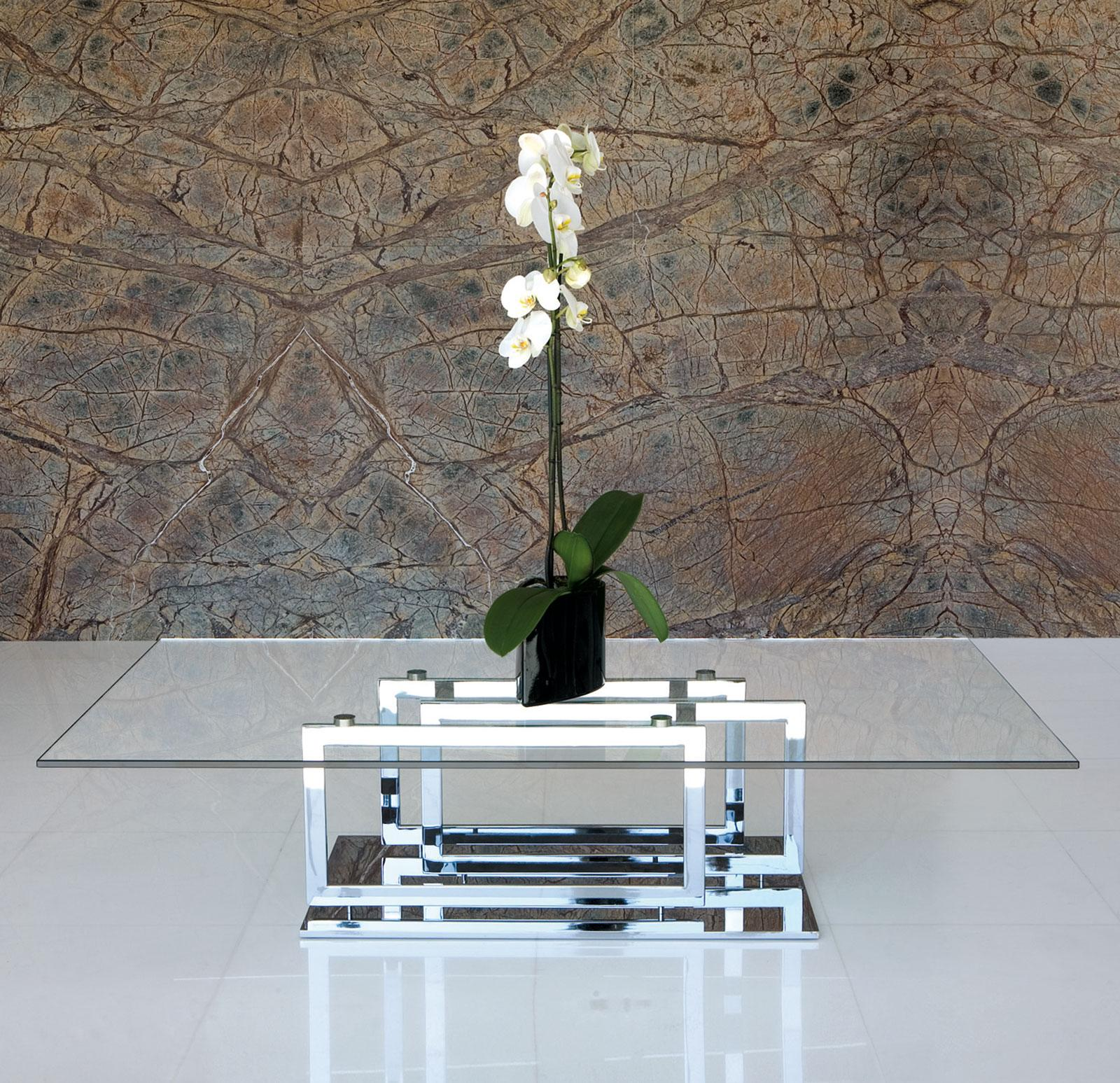 Excelsior Glass And Metal Coffee Table