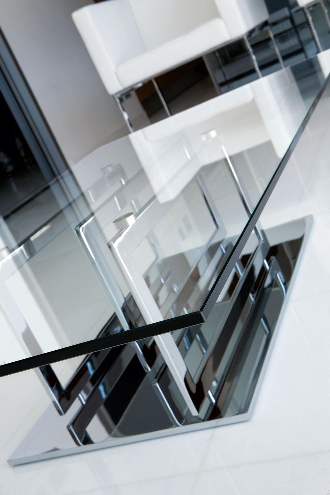 Excelsior table basse en verre et m tal idd - Table basse verre et metal ...
