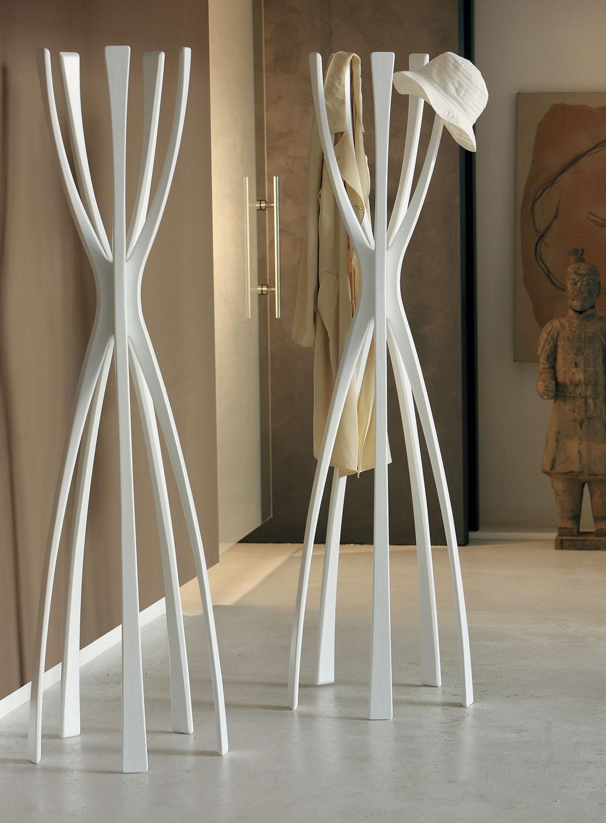 Flam appendiabiti in massello di noce canaletto - Italy Dream Design