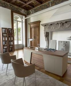 scrittoio moderno bianco pelle bureau camera noce legno nero rosso scrivania trasparente ufficio vetro arredamento casa on line di lusso 2015 made in italy