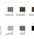 Available finishings