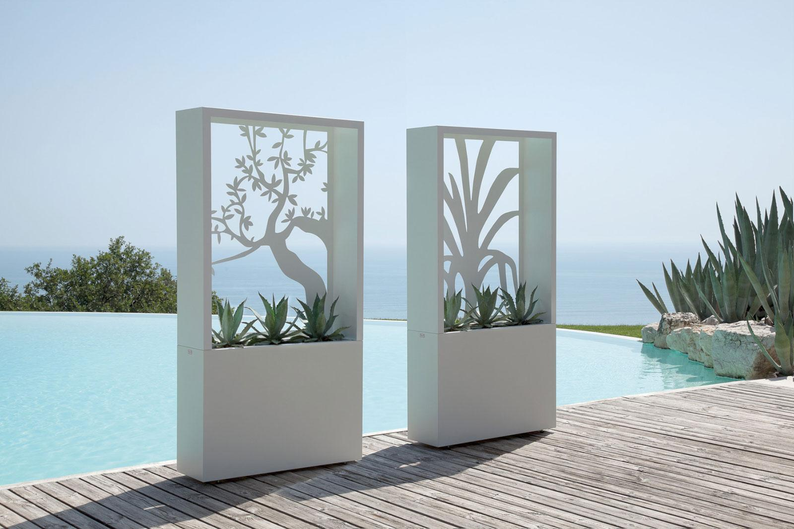 Fioriera outdoor steel planter idd for Table exterieur moderne