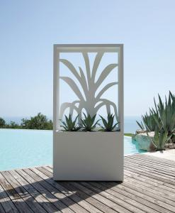 Design planter for garden and terrace.Outdoor large planter in iron available white and grey.Garden box.Outdoor luxury furniture.Online sale.