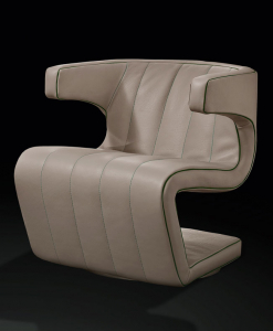 Design by Giuseppe Viganò. Dean is a luxurious leather swivel armchair with endless possible customizations. Shop online. Free home delivery.