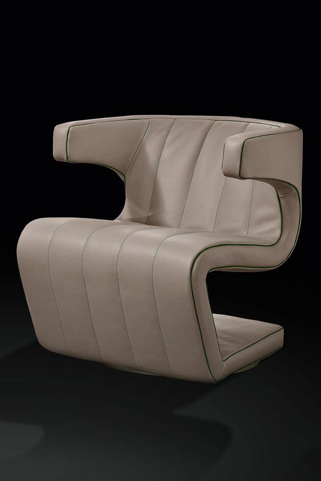 Fly poltrona girevole in pelle italy dream design for Poltrona girevole design