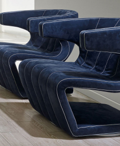 Giuseppe Viganò a dessiné Dean, fauteuil tournant en nabuk, comme une oeuvre d'art. Plusieurs coloris de cuir de haute qualité disponibles. Livraison à domicile.