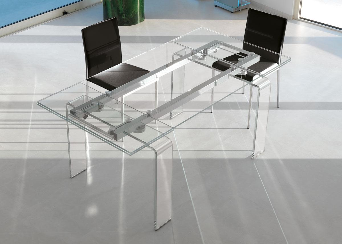 Table rectangulaire extensible en verre vente en ligne for Table en verre et chaise