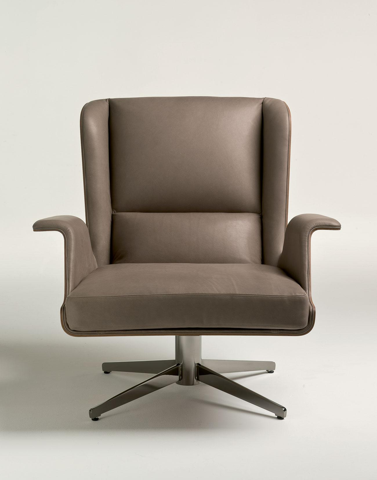 Garbo poltrona relax girevole italy dream design for Poltrona girevole design