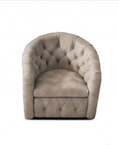 Ginger Capitonnè leather armchair