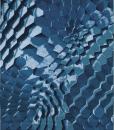 Ginger tappeto rettangolare a fantasia blu