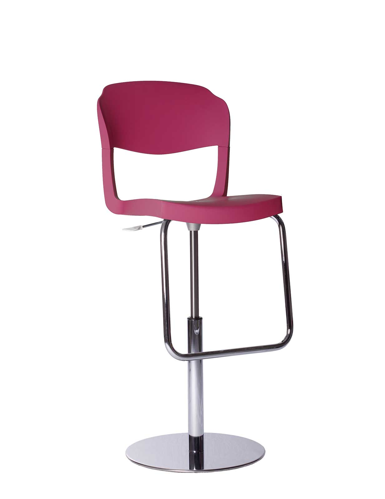 Chrome & Polypropylene Bar Stool with Back | Shop Online - Italy ...
