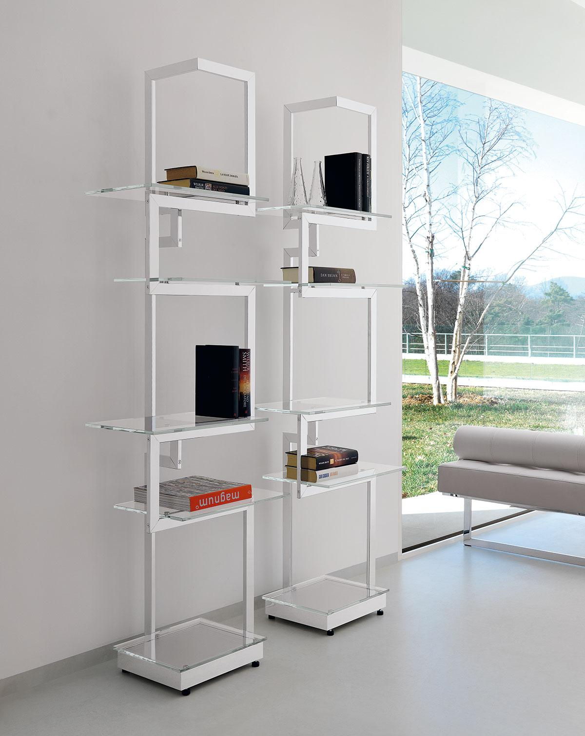 heritage metal and glass luxury bookcase shop online italy dream design. Black Bedroom Furniture Sets. Home Design Ideas