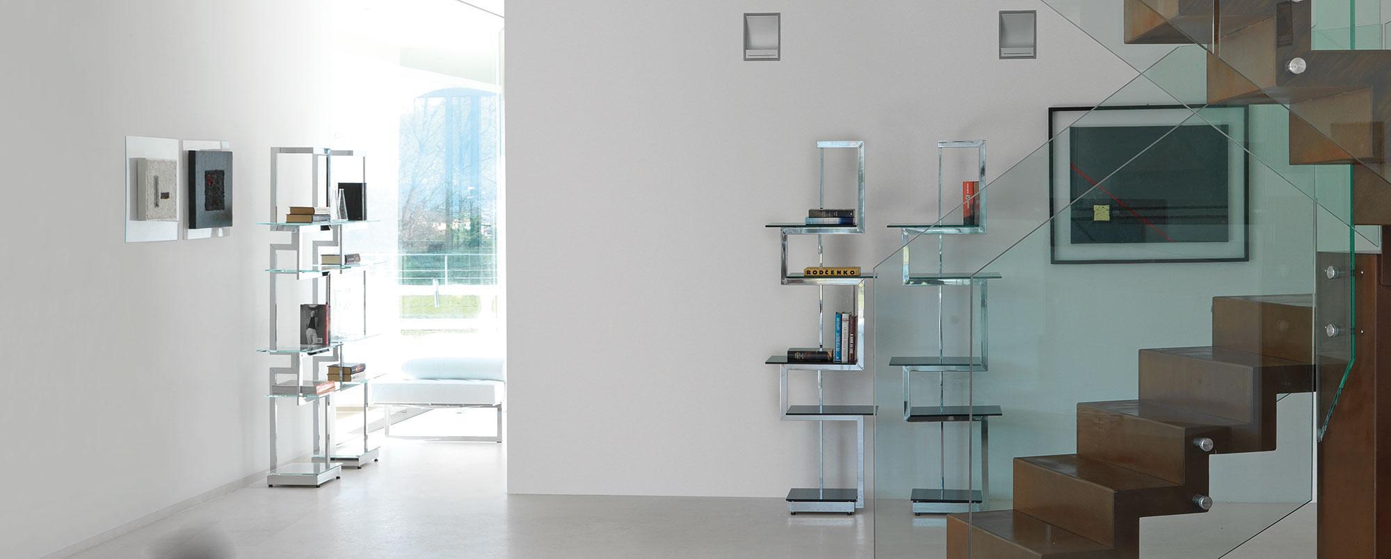 Heritage libreria metallo e vetro italy dream design for Libreria acciaio e vetro