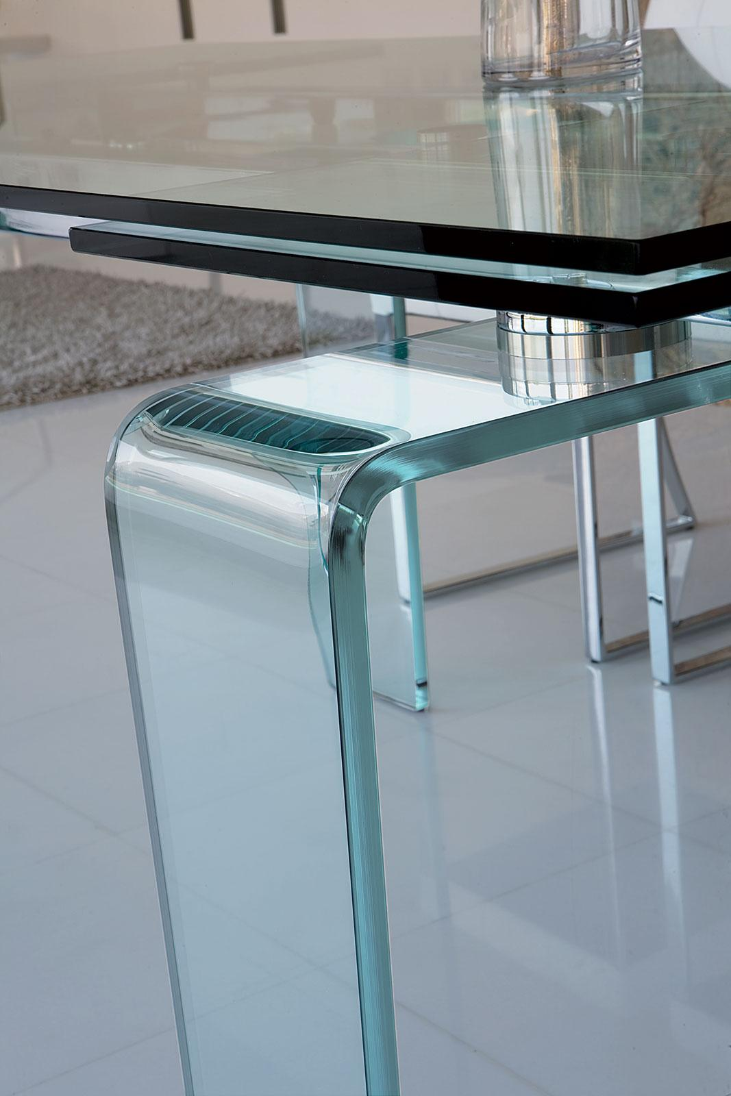 Ghost Extensible Glass Table Shop Online Italy Dream Design
