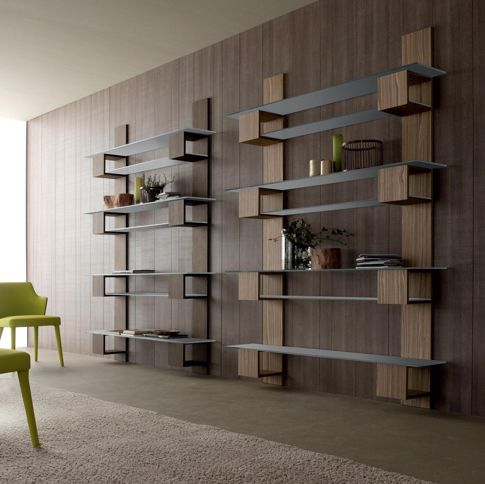infinity meuble biblioth que mural tag res idd. Black Bedroom Furniture Sets. Home Design Ideas