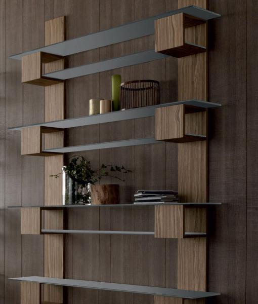 Acquisto Libreria Legno.Infinity Mobile Biblioteca Componibile Sospeso In Legno