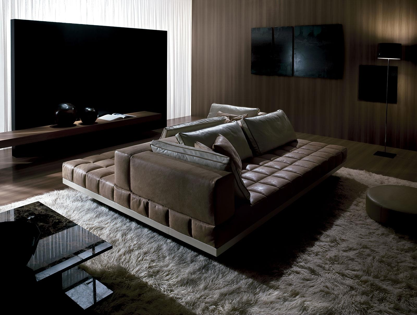insula leather sofa 264x198
