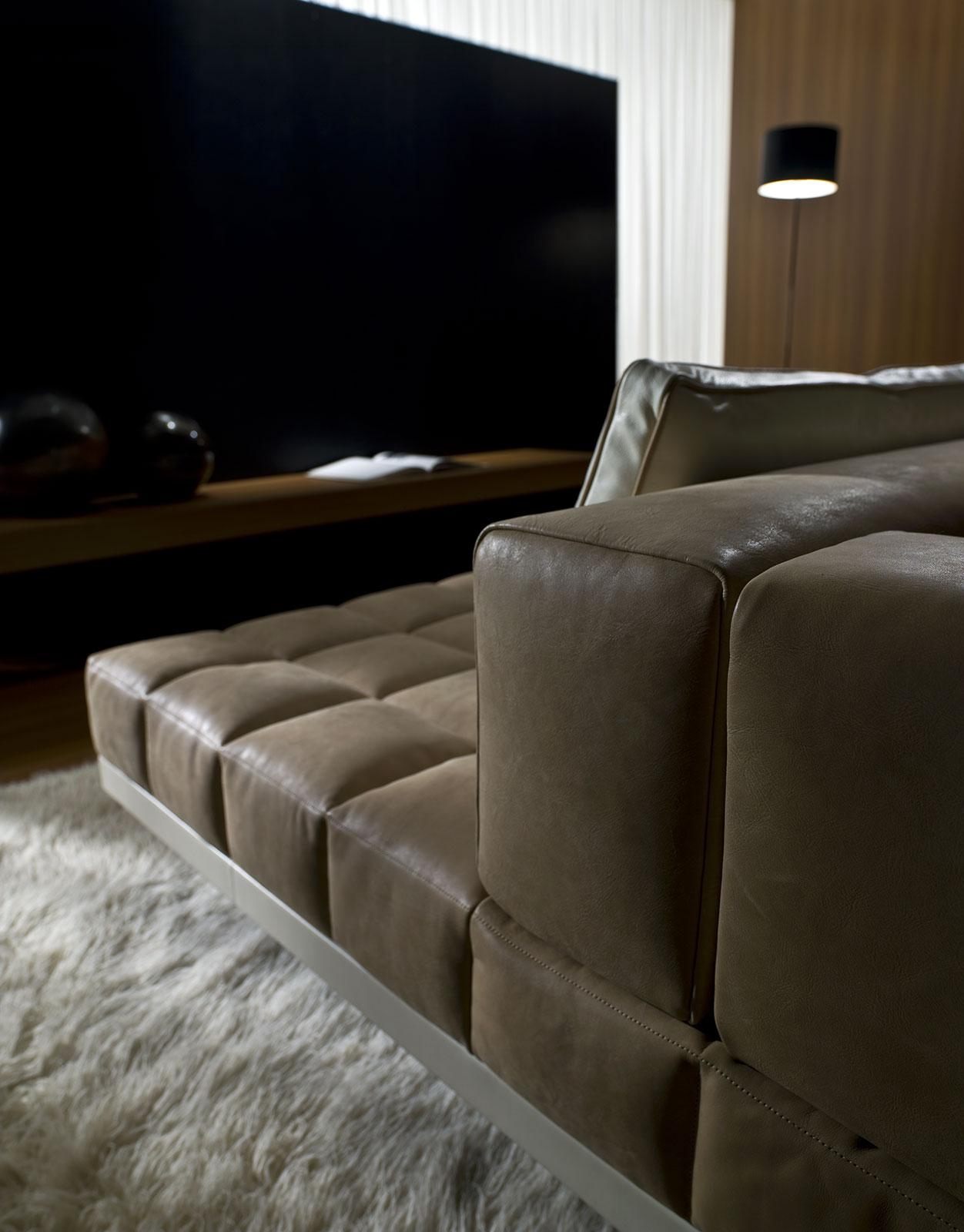Insula Modular Leather Sofa