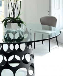 table ronde salle a manger 6 8 10 12 personnes blanche en verre salon chaise noir prix yacht design haut de gamme luxe magasin moderne ligne contemporains