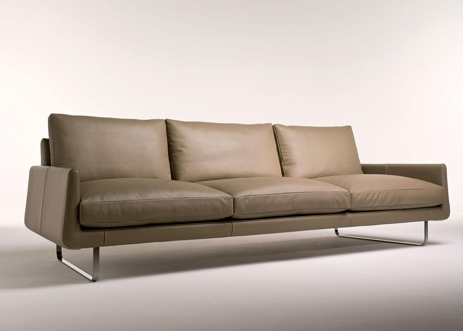 Joshua 4 Seater Leather Sofa