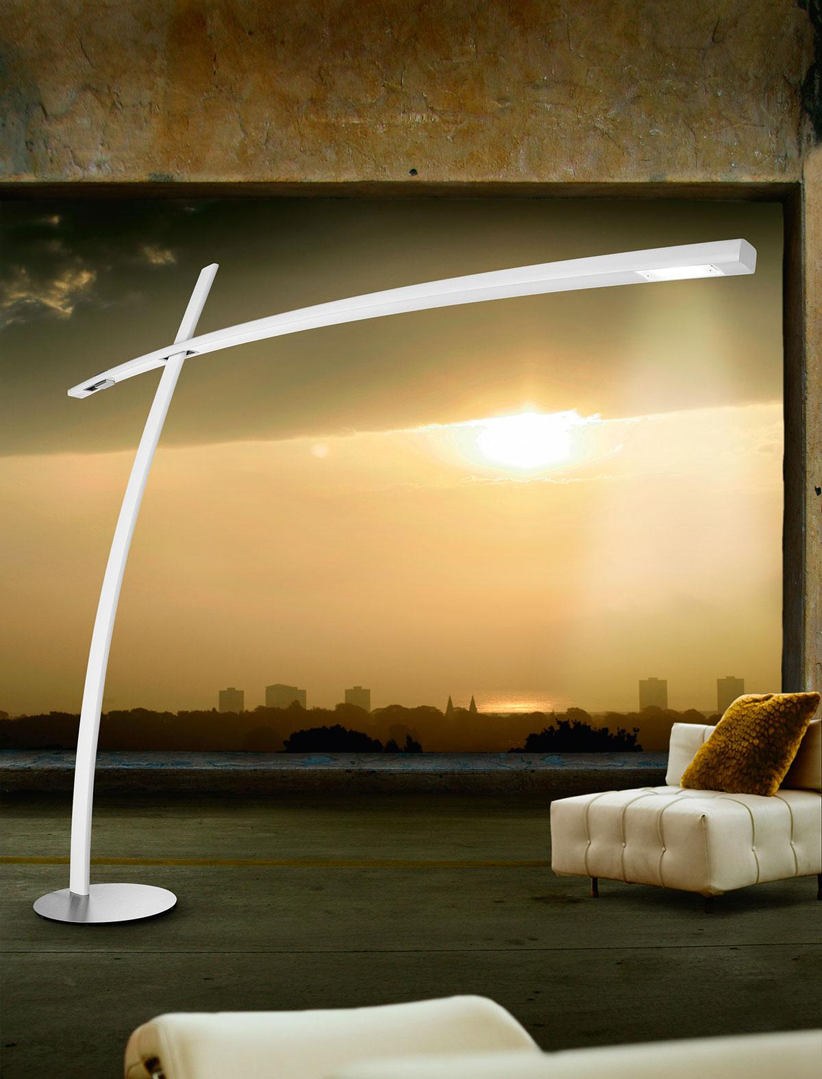 Katana lampadaire en fibre de carbone idd - Lampadaire deporte design ...