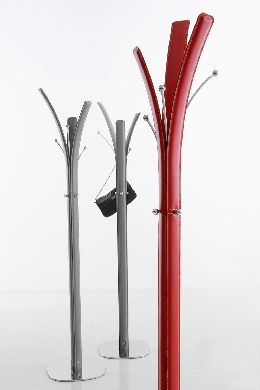 Kimi appendiabiti rivestito di cuoio italy dream design for Arredo ufficio bianco