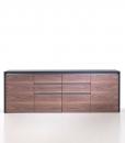 Meuble bas à 4 compartiments avec portes et tiroirs pour bureau directionnel. Vente en ligne de meubles de bureau haut de gamme made in italy.