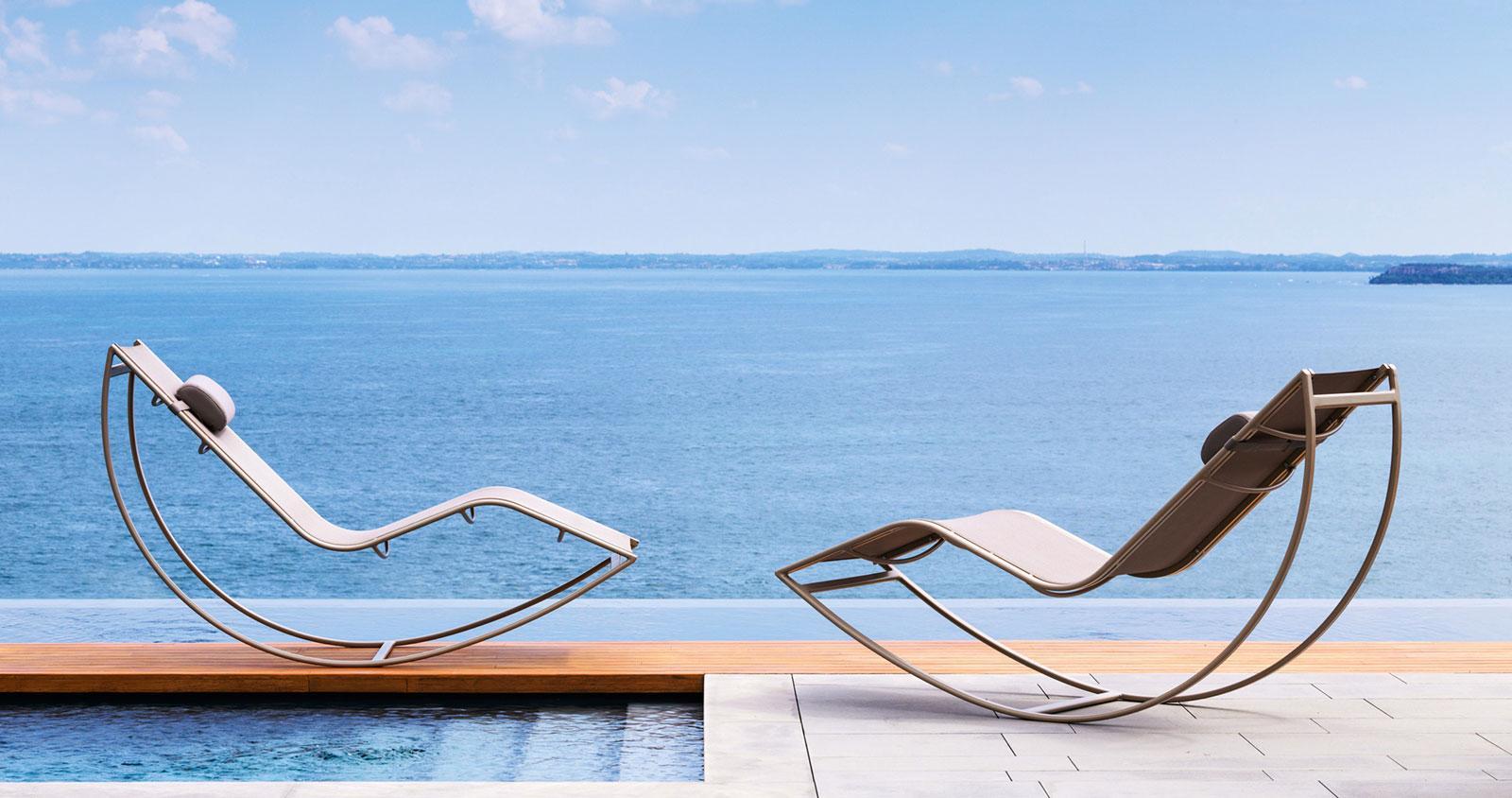 Don sdraio da esterno a dondolo - Italy Dream Design