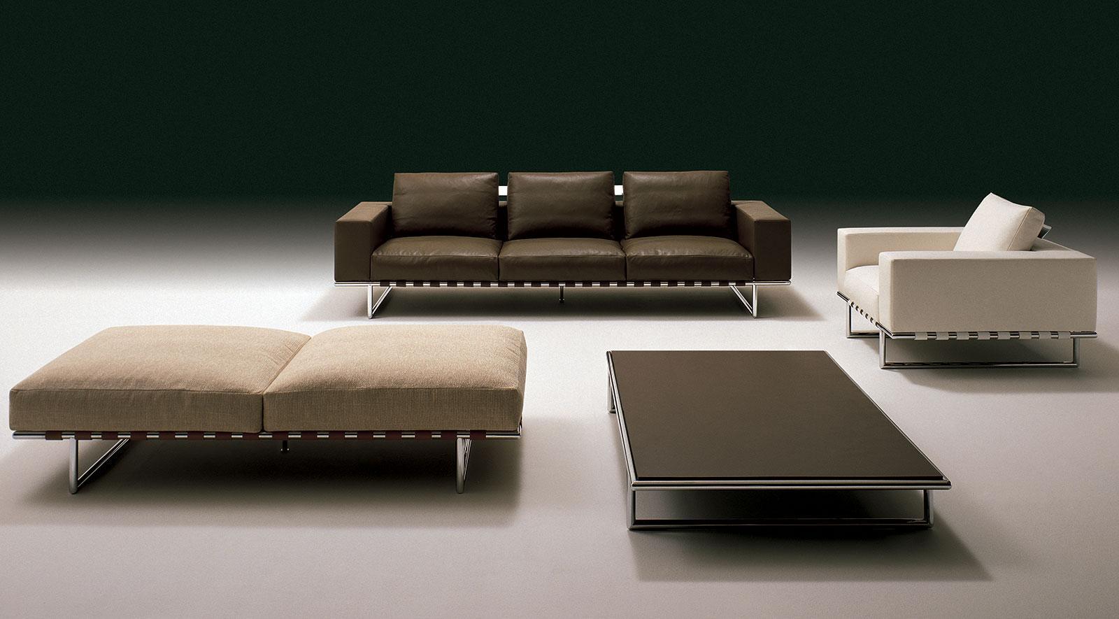 canape cuir blanc fixe places gris clair noir original orange design haut gamme luxe maison magasin salon meuble contemporains vente site italiens qualité