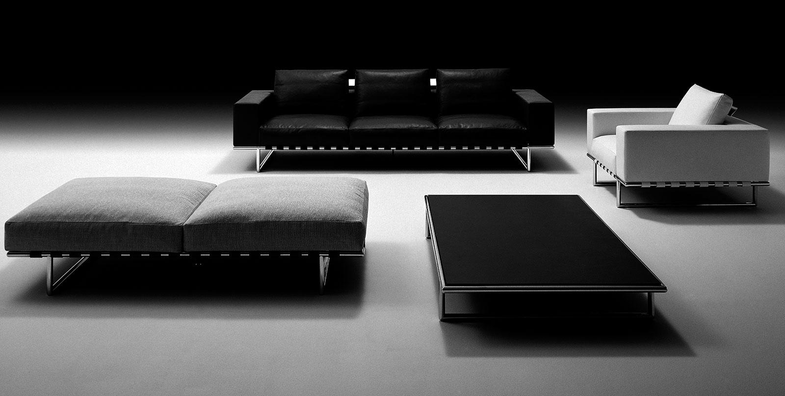 divano pelle Mauro Lipparini misure grande bianco nero marrone posti prezzo salotto moderno foto immagini arredamento casa lusso 2017 design made in italy