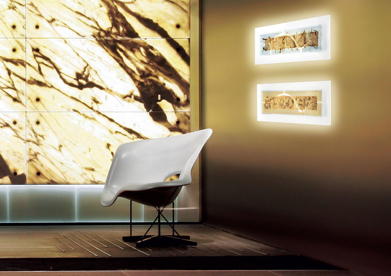 Laguna applique rettangolare in vetro soffiato di Murano - Italy Dream Design