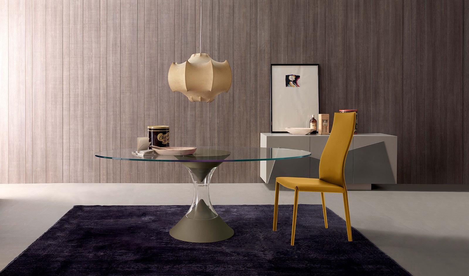 Credenza Moderna Bianca Alta : Credenza alta moderna in legno laccato bianca prisma