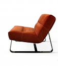 Loft Armchair in leather and metal