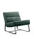 Loft Armchair in Green Leather