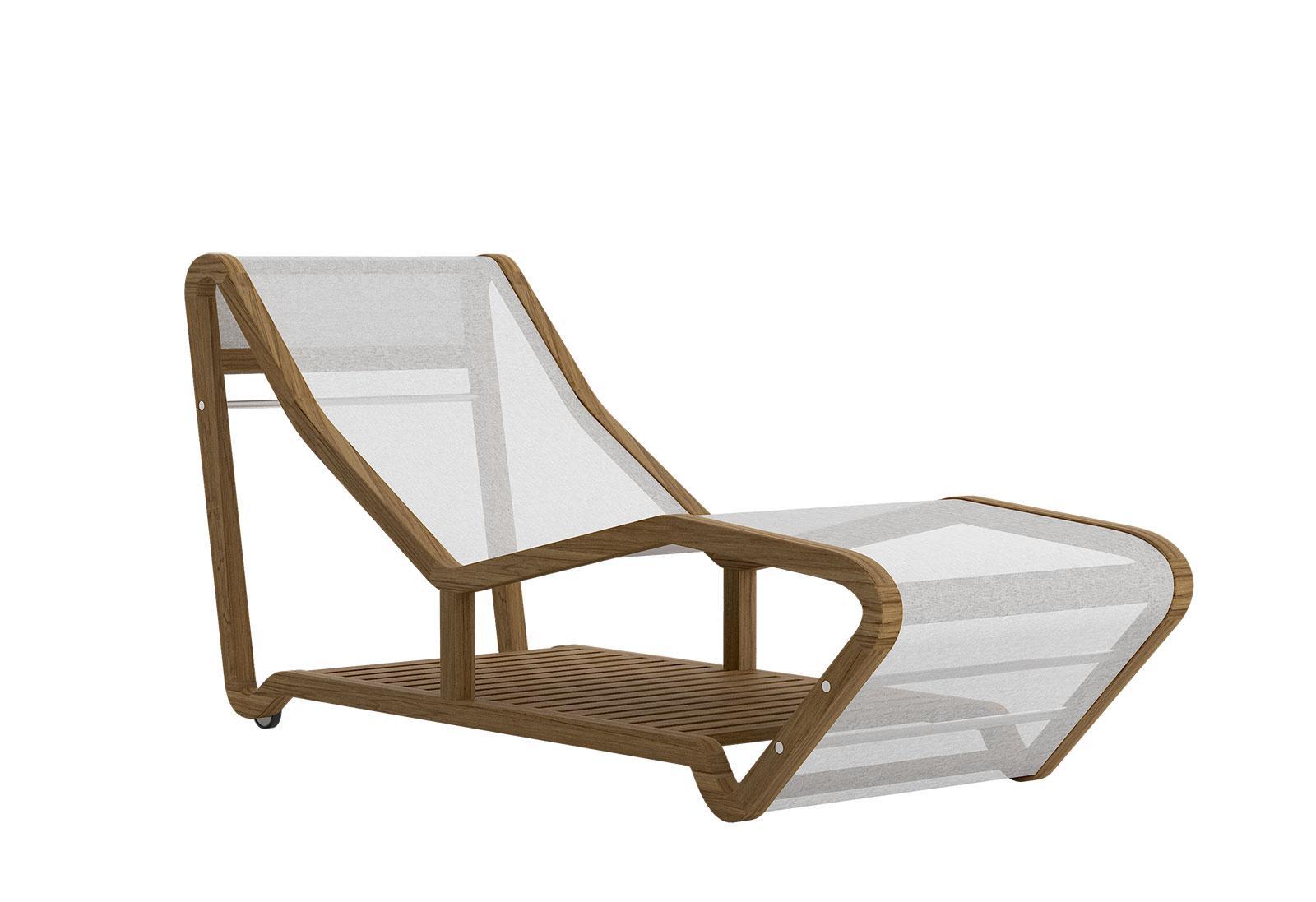 Chaise longue da giardino con struttura in teak ed acciaio for Poltrona zoe verzelloni prezzo