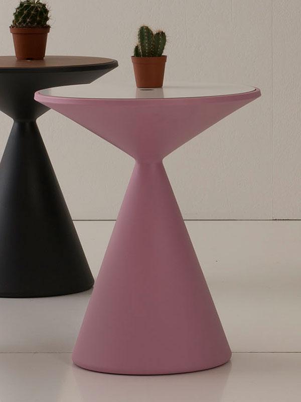 Table basse ronde avec copartiment porte objets. Vente en ligne de tables basses design et meubles haut de gamme made in Italy.