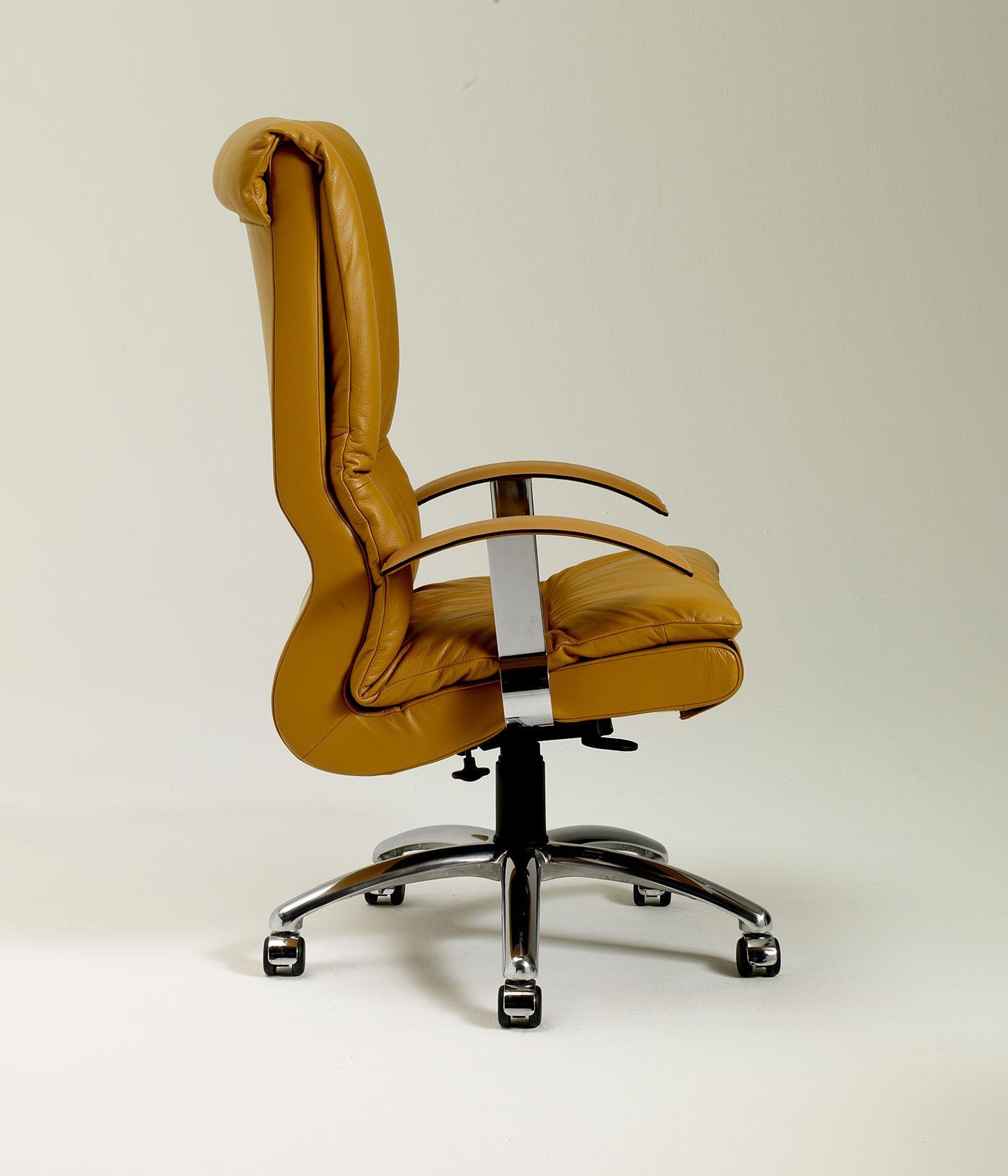 Lux fauteuil directionnel pivotant rev tu en cuir idd - Fauteuil de bureau luxe ...