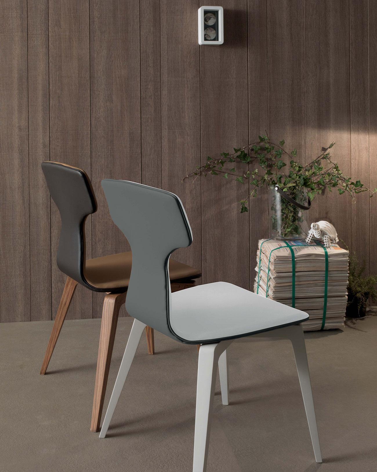 Sedie In Ecopelle Bianche Prezzi.Monica Sedia In Ecopelle Italy Dream Design