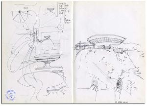 Mac-Niteroi-schema-Oscar-Niemeyer-disegno-a-mano