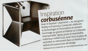Madame Figaro articolo poltrona Jeanneret