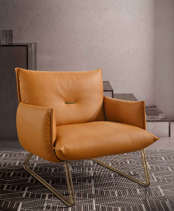 Margot Poltrona in Pelle Leather armchair Fauteuil en cuir