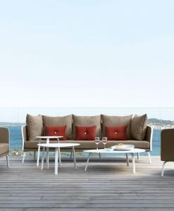 canapé d extérieur ameublement design haut de gamme jardin luxe moderne en ligne mobilier meuble contemporains vente site italiens qualité aluminium