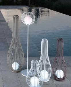 lampe d extérieur ameublement design haut de gamme jardin luxe moderne en ligne lampadaire lanterne contemporains vente site italiens qualité aluminium