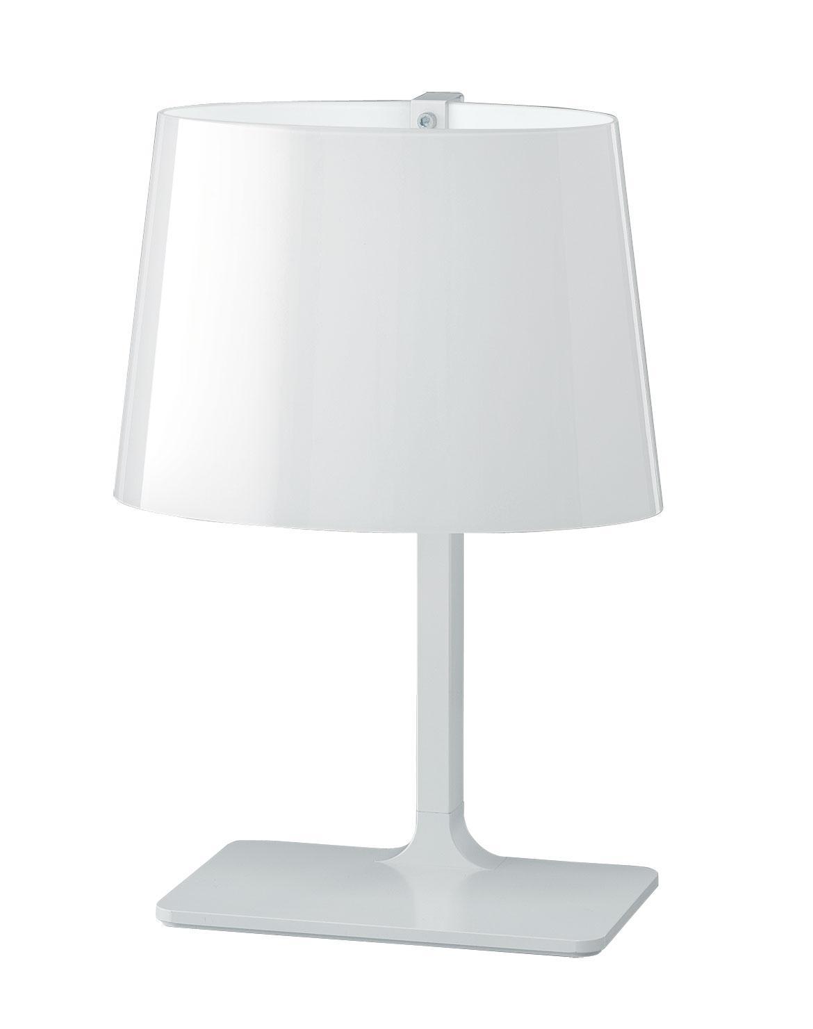 marlowe lampe poser en verre souffl satin blanc idd. Black Bedroom Furniture Sets. Home Design Ideas