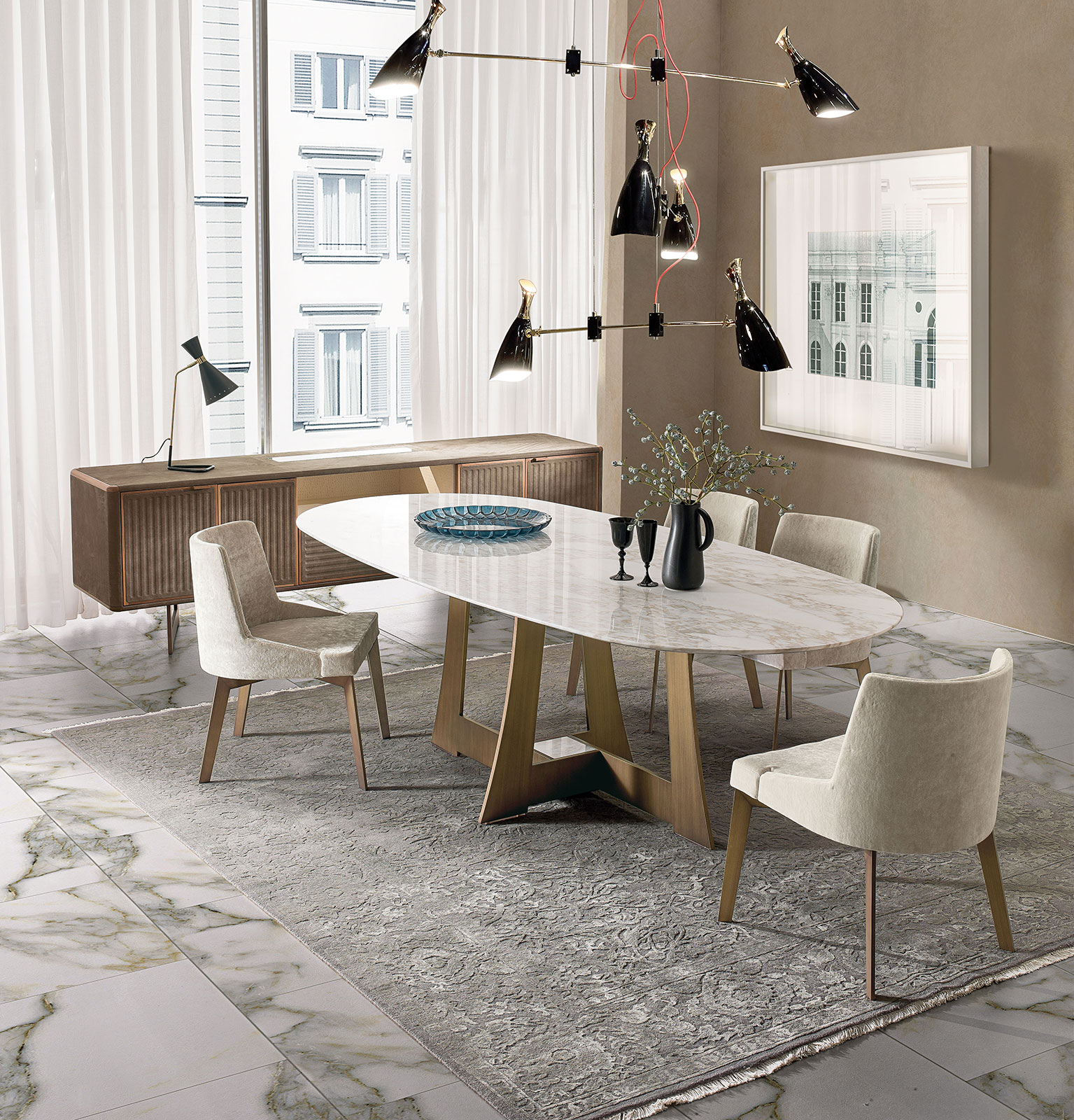 Mia Oval Dining Table Idd