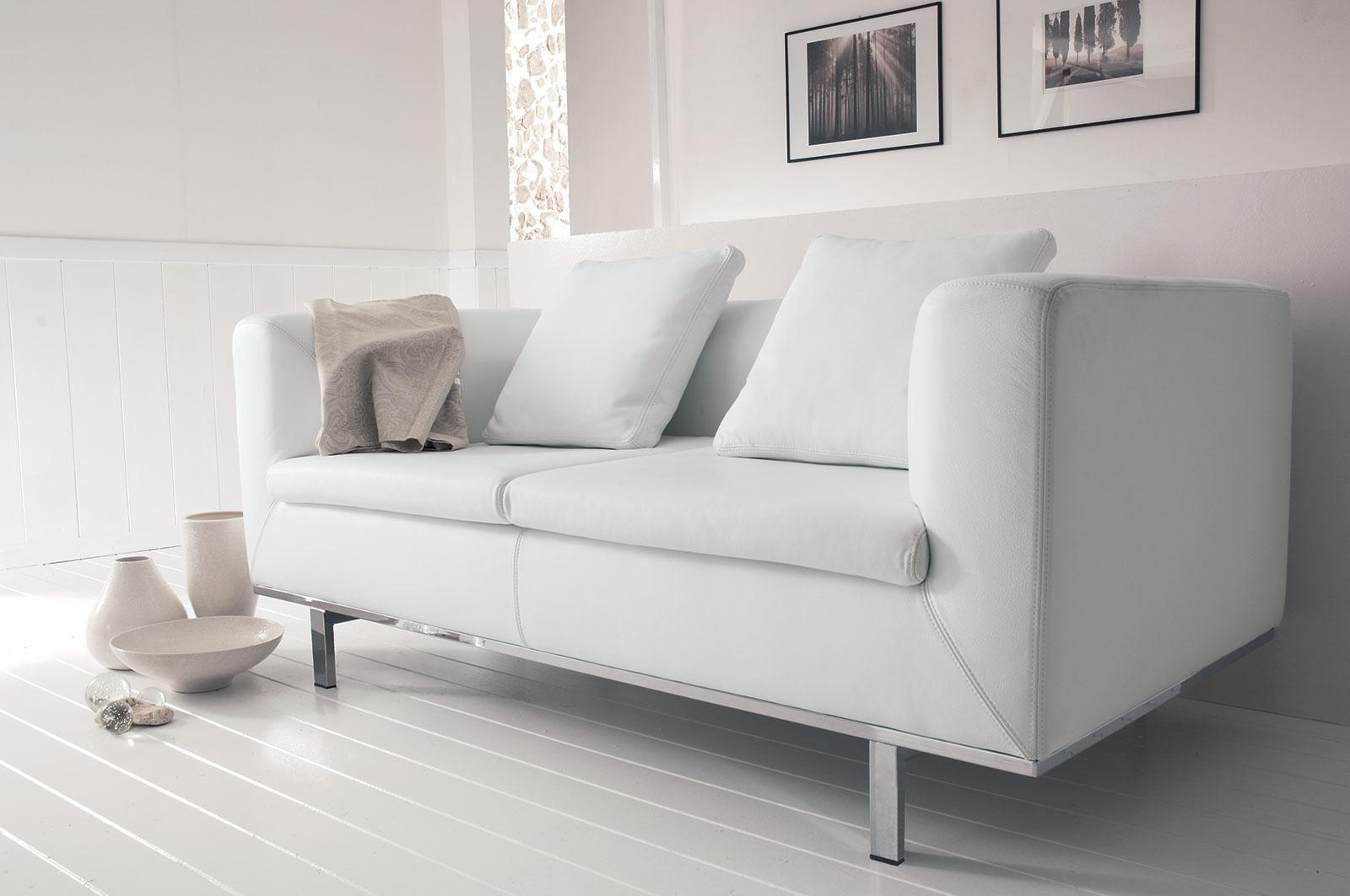Miami 2 seater leather sofa