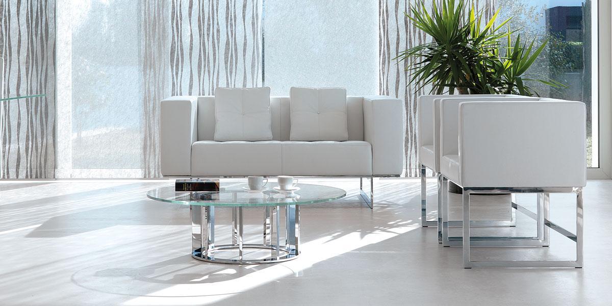 arredamento casa on line moderno di lusso 2015 design inspiration web made in italy tavolino rotondo salotto soggiorno basso cristallo in vetro nero tondo